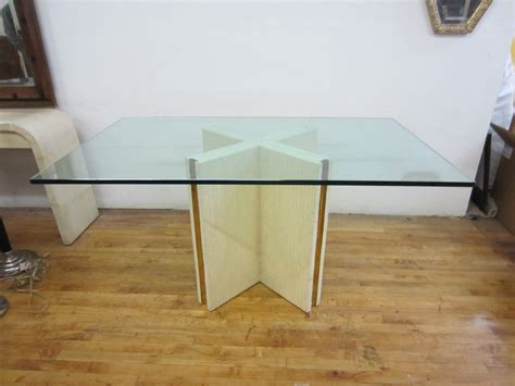dining room table bases for glass tops glass top dining table with bone base for sale at 1stdibs