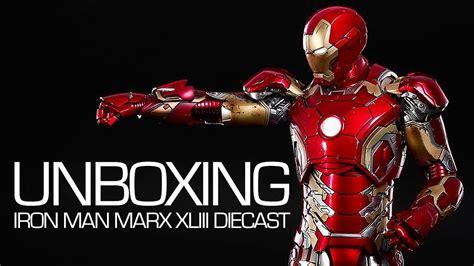 unboxing iron man mark xliii diecast hot toys youtube