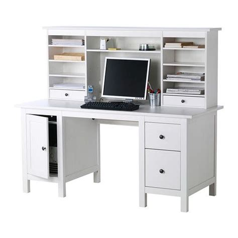Desk Add On Shelf by Hemnes Desk With Add On Hutch Unit Ikea Adjustable Middle