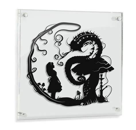 Alice In Wonderland Wall Stickers alice au pays des merveilles alice et la chenille art du