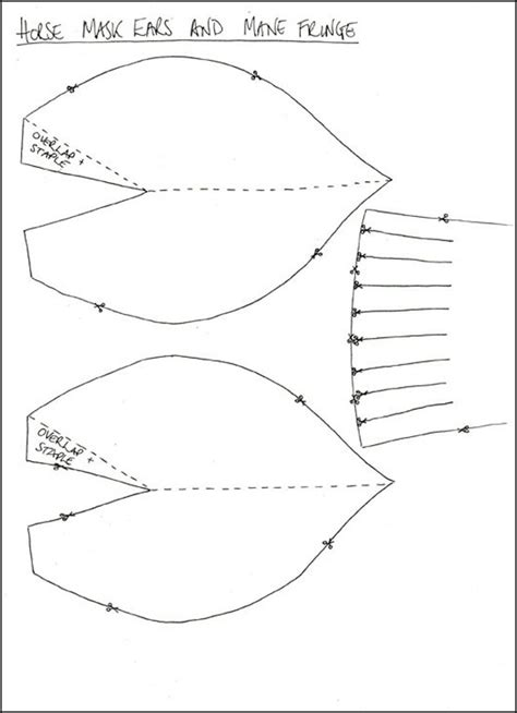 printable horse mask template tate kids create horse mask