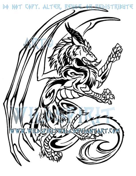dragon wolf tattoo design by wildspiritwolf on deviantart