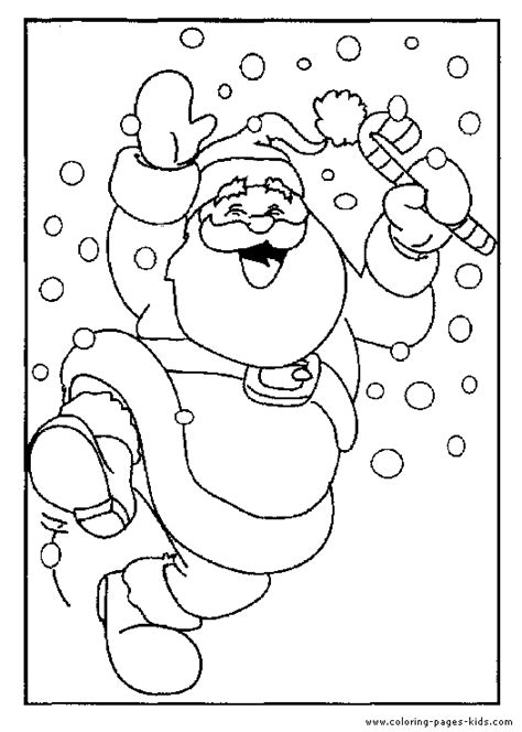 Dancing Santa Coloring Page | christmas coloring sheet for kids dancing santa