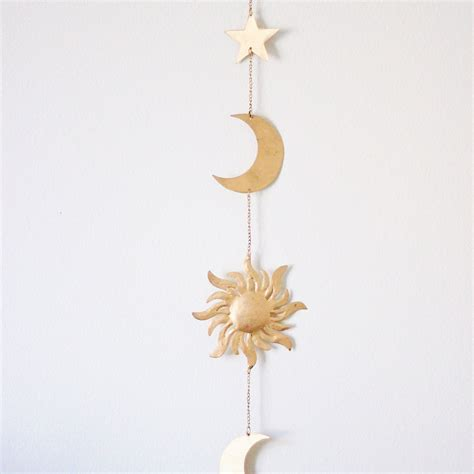 Hanging Moon Decoration by Sun Moon And Wall Hanging Decor