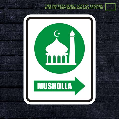 jual wskpc148 sticker k3 safety sign warning sign mushola