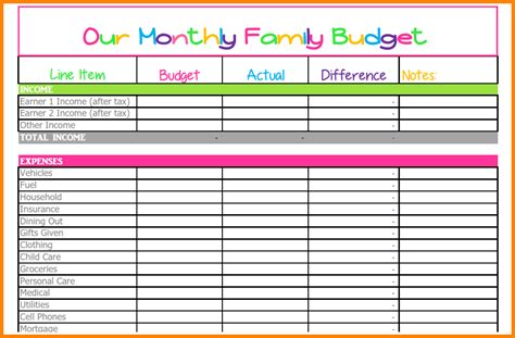 template for bills 8 monthly bills spreadsheet monthly bills template