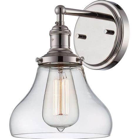 Polished Nickel Sconces by Filament Design Glomar 1 Light Polished Nickel