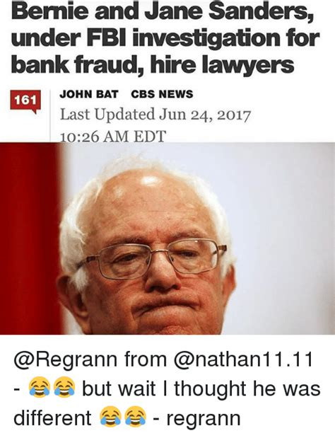 Bank Fraud Investigator by Bernie Sanders Makes Republicans Look Stupid And Incompetent Again Page 2 Sherdog Forums