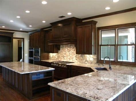 dark kitchen cabinets with backsplash colonial white granite dark cabinets backsplash ideas