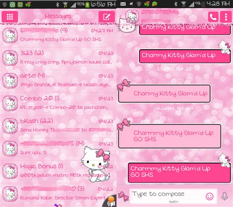 go sms background pretty droid themes april 2014