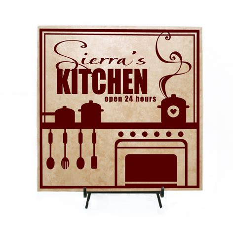 Personalized Kitchen Signs by Personalized Kitchen Sign Personalized Wood Sign By Levinyl