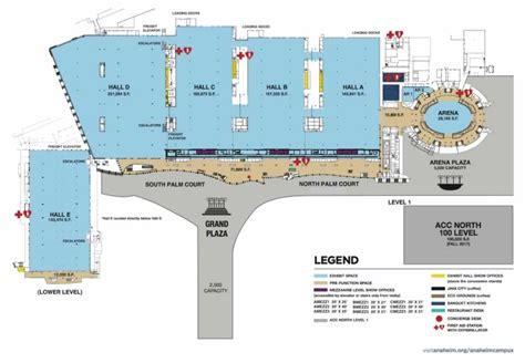 Anaheim Convention Center Floor Plan anaheim convention campus visit anaheim