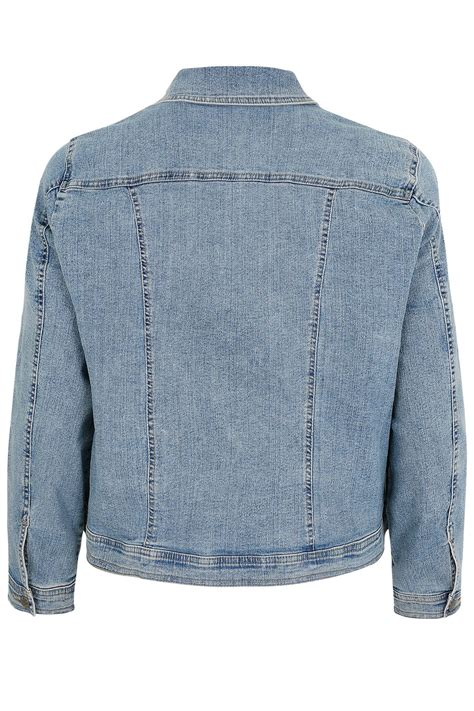 Light Blue Denim Jacket Plus Size 16 To 32