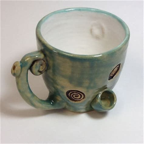 Coffee Mug Pipe/Wake & Bake from claycafe on Etsy   Things I want