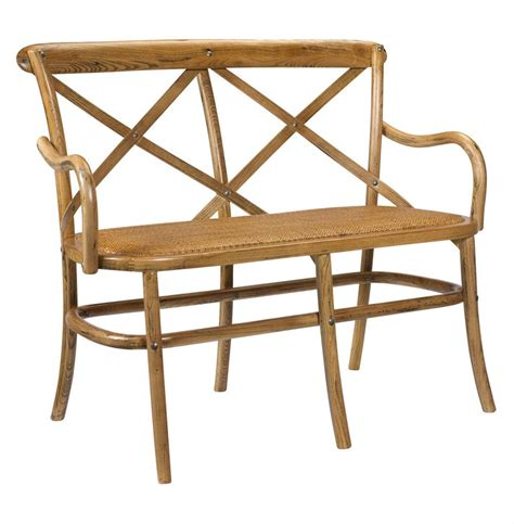 loveseat dining bench kasson french country light oak wood loveseat dining bench kathy kuo home