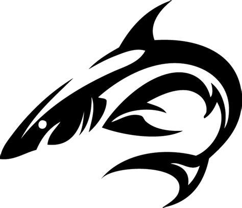 hawaiian tribal shark tattoo tribal shark isolated stock photo by nobacks