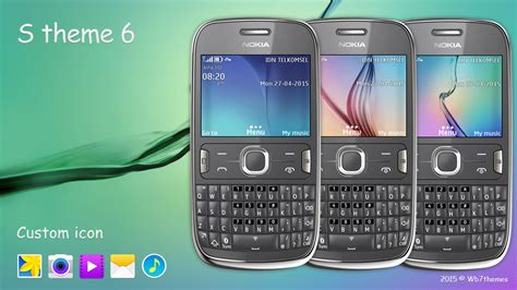 galaxy themes for nokia c3 s theme 6 themes c3 00 x2 01 asha 200 201 205 210 302