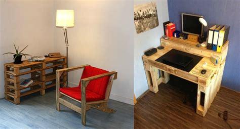 bureau en palette de bois que faire avec des palettes plus de 38 cr 233 ations originales