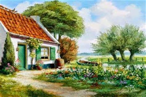 Lu Sorot Untuk Lukisan lukisan alam pedesaan penyejuk mata