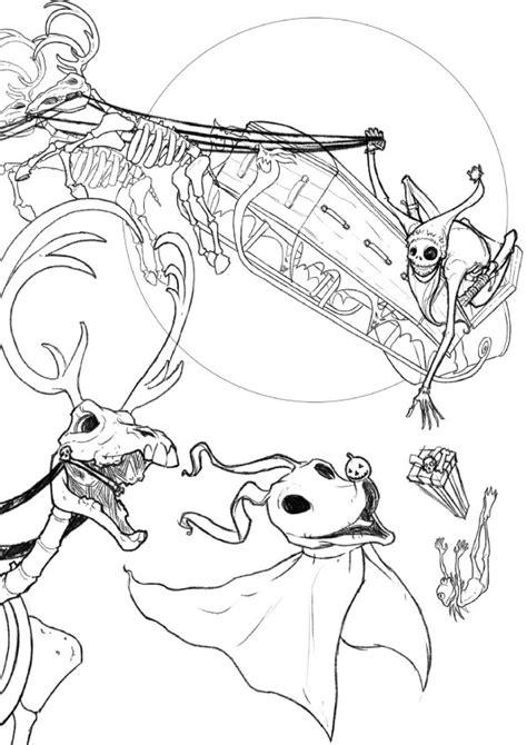 Nightmare Before Christmas Lock Shock Barrel Sketch Nightmare Before Coloring Pages Printable