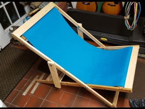 how to build a reclining chair diy folding beach chair super easy project youtube