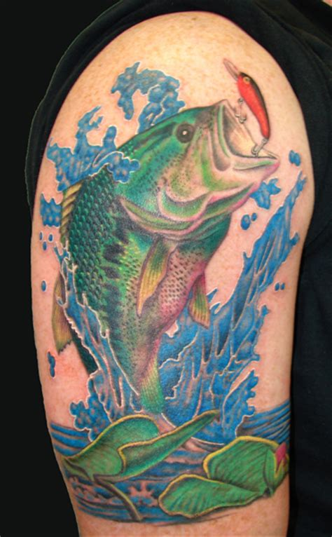largemouth bass tattoo by asussman on deviantart