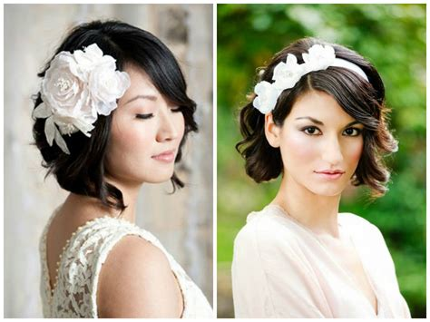 Wedding Hairstyles With A Bob Cut by Bridal Wavy Bob Hairstyle Ideas For Wedding Day