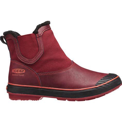 slip on boots for waterproof keen womens elsa chelsea wp zinfandel slip on waterproof