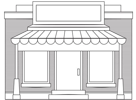 shop front template 187 store fronts shop 4 black white line coloring book