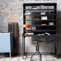 bureau en metal style industriel bureau informatique chez