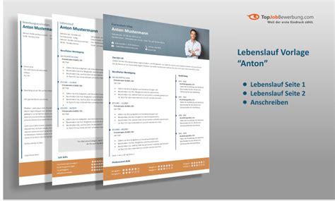 Lebenslauf Anschreiben Layout Profi Lebenslauf Vorlage Quot Anton Quot F 252 R Erfolgreiche Bewerbungen