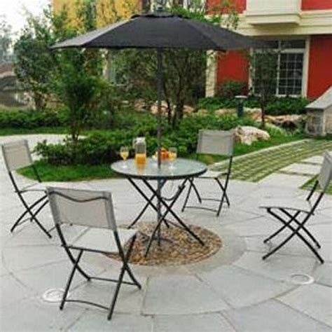 Patio Table Parasol Small Patio Furniture With Umbrella Chairs Seating