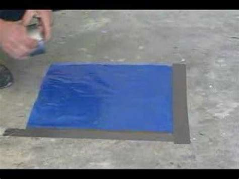 how to test for moisture on concrete youtube