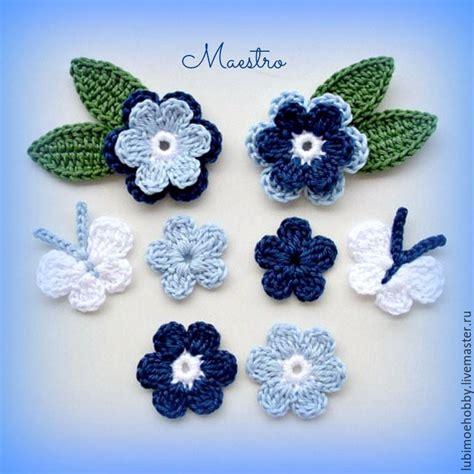 apliques infantiles a crochet apliques de flores a crochet patrones