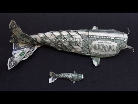 How To Make Money Origami Koi Fish - foot money origami koi fish dollar bill
