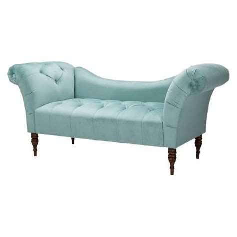 Tufted Chaise Settee skyline furniture button tufted velvet chaise se target