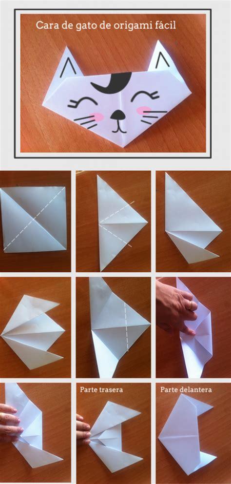 como hacer un cuento con hojas blanca c 243 mo hacer un gato de origami muy f 225 cil manualidades