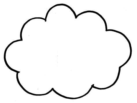 cloud template with lines cloud line drawing clipart best