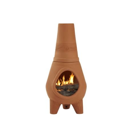 chiminea lowes shop pr imports 42 in h x 18 5 in d x 18 5 in w terracotta