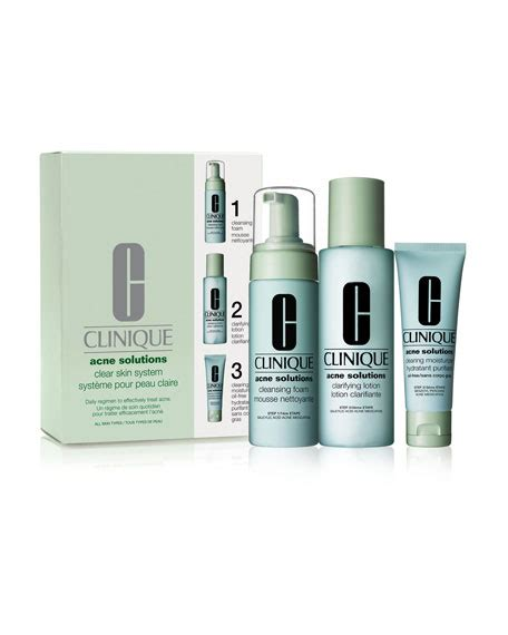 Clinique Acne clinique acne solutions clear skin system kit neiman