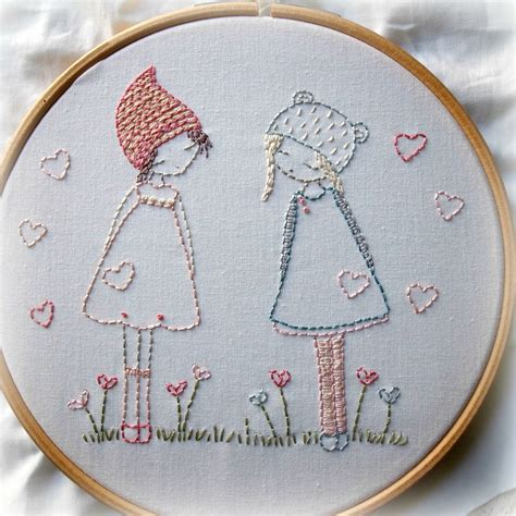Handmade Embroidery Design - friends embroidery pattern pdf