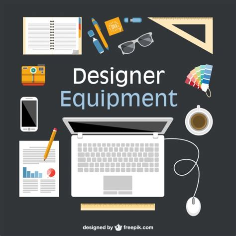 layout editor cell flat design equipment flat illustration vector free download