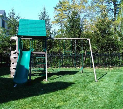 lifetime swing sets swing set installation nj playset installer cedar summit