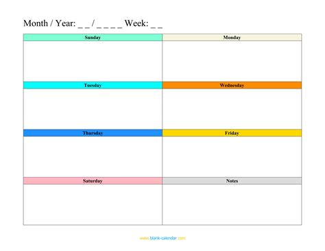 Weekly Schedule Planner Templates Word Excel Pdf Calendar Planner Template