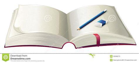 a book with a pencil and an eraser stock photos image 33098273