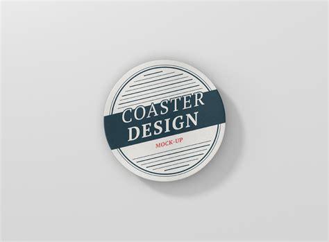 coaster mock  premium   mockups   awesome projects  visconbiz