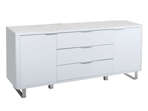 Lacquer Sideboard Accent White High Gloss Sideboard