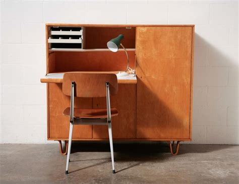 Desk With Cabinet by Cees Braakman For Pastoe Desk Cabinet Amsterdam Modern