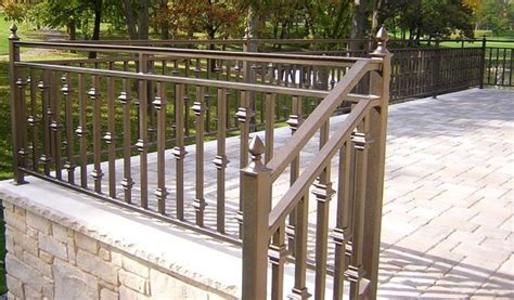 Image Of Wrought Iron Deck Railing Designs Railings