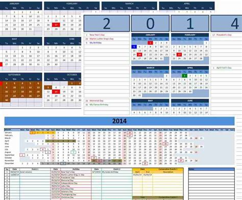 Free Custom 2014 Calendars Template Custom Excel Templates